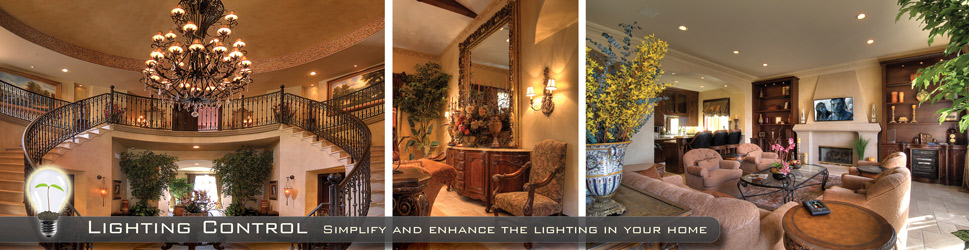Crestron Lighting Control System in a luxury home.